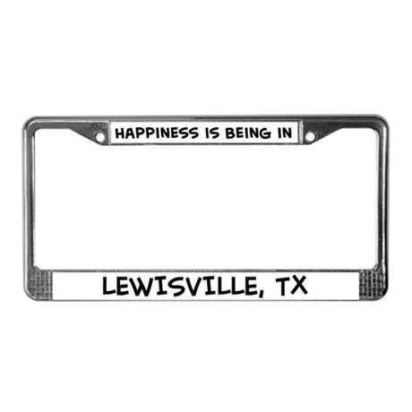 Happiness is Lewisville License Plate Frame