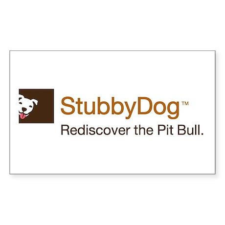 StubbyDog Logo Sticker (Rectangle)