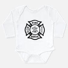 Fire Rescue Long Sleeve Infant Bodysuit