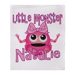 Little Monster Natalie Throw Blanket