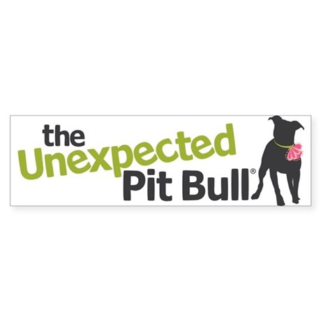 The Unexpected Pit Bull Sticker (Bumper)