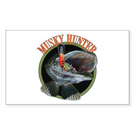 Musky hunter 8 Sticker (Rectangle)