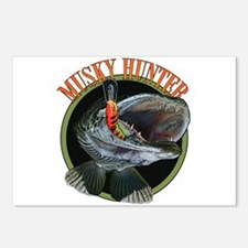 Musky hunter 8 Postcards (Package of 8)
