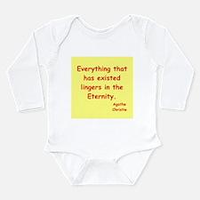 agatha Christie quotes Long Sleeve Infant Bodysuit