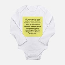 pierre and marie currie quote Long Sleeve Infant B