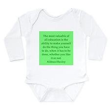aldous huxley quotes Long Sleeve Infant Bodysuit