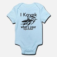 I kayak what's your superpower? Infant Bodysuit