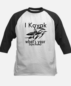 I kayak what's your superpower? Kids Baseball Jers