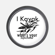 I kayak what's your superpower? Wall Clock