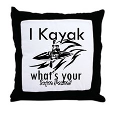 I kayak what's your superpower? Throw Pillow
