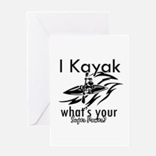 I kayak what's your superpower? Greeting Card