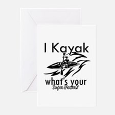 I kayak what's your superpower? Greeting Cards (Pk
