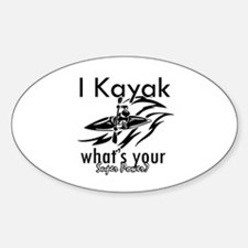 I kayak what's your superpower? Sticker (Oval)