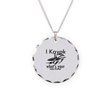 I kayak what's your superpower? Necklace