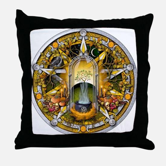 Samhain Pentacle Throw Pillow