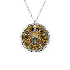 Samhain Pentacle Necklace Circle Charm