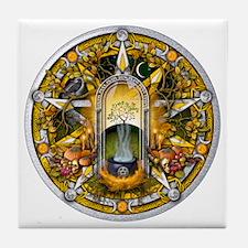 Samhain Pentacle Tile Coaster