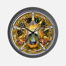 Samhain Pentacle Wall Clock