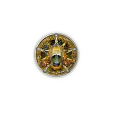 Samhain Pentacle Mini Button