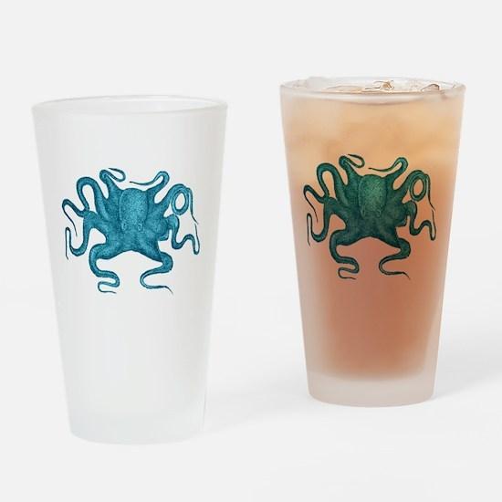 Blue Octopus Drinking Glass