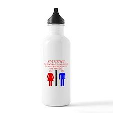funny math statistics Water Bottle