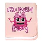 Little Monster Riley baby blanket