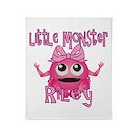 Little Monster Riley Throw Blanket