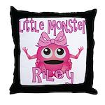 Little Monster Riley Throw Pillow