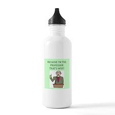 funny geek & professor Water Bottle
