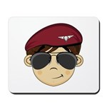 Cute Army Red Beret Mousepad