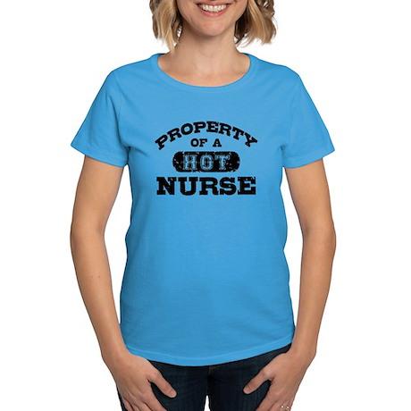 Property of a Hot Nurse Women's Dark T-Shirt