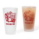 This Is How I Roll Tractor RE Drinking Glass