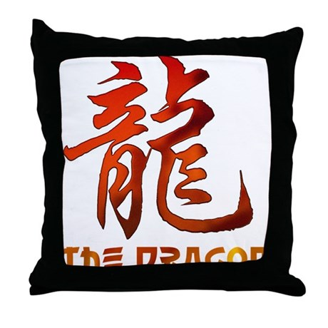 Chinese Astrology Dragon Sign Throw Pillow