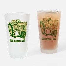 This Is How I Roll Tractor GR Drinking Glass