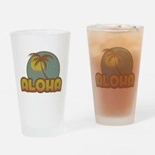 Aloha Palm Drinking Glass