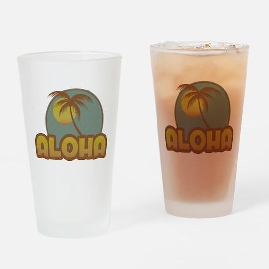 Aloha Palm Drinking Glass