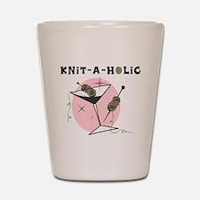 Knit-A-Holic Shot Glass