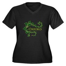 Oxford Women's Plus Size V-Neck Dark T-Shirt