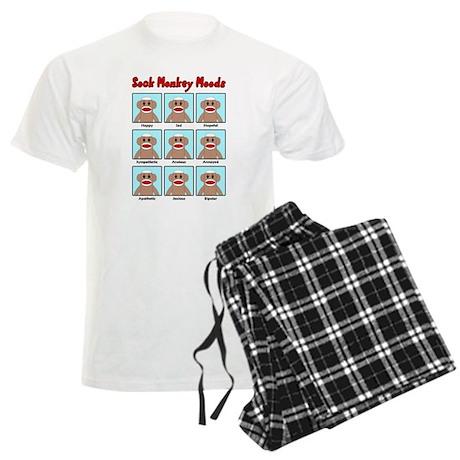 Sock Monkey Moods Men's Light Pajamas