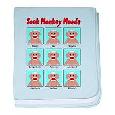 Sock Monkey Moods baby blanket