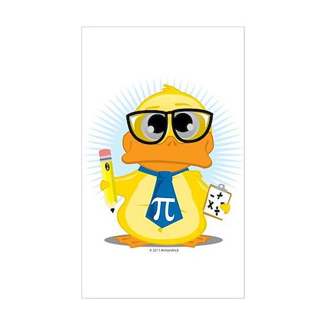 Math Teacher Duck Sticker (Rectangle)