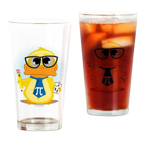 Math Teacher Duck Drinking Glass