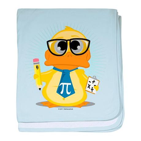 Math Teacher Duck baby blanket