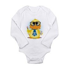 Math Teacher Duck Long Sleeve Infant Bodysuit
