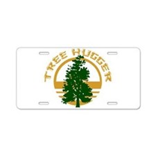 Tree Hugger Aluminum License Plate