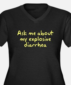 Ask Me About My Explosive Dia Women's Plus Size V-