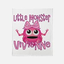 Little Monster Vivienne Throw Blanket