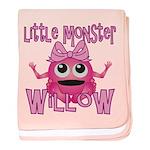 Little Monster Willow baby blanket