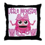 Little Monster Willow Throw Pillow