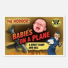 Babies on a Plane Postcards (Package of 8)